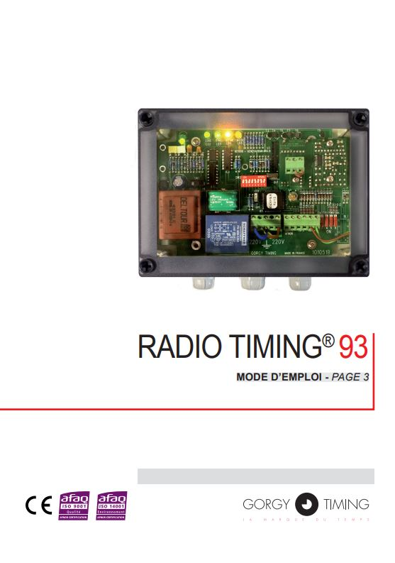 Bedienungsanleitung Hauptuhr Gorgy Timing Radio Timing 93