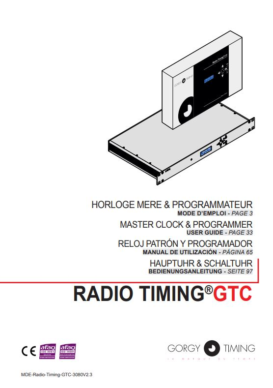 Bedienungsanleitung Hauptuhr Gorgy Timing Radio Timing GTC